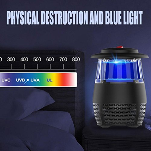 USB Stheanoo Mosquito Zappers Electric Fly Bug Insect Killer LED Light Pest Trap Lamp Non-toxic, Non-polluted, Radiation-free Mosquito Killer for Home Kitchen Bedroom (black) by Stheanoo Zapper (Image #3)