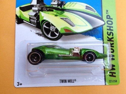 Hot Wheels Twin Mill (Hot Wheels Secret Super Treasure Hunt HW Workshop Twin Mill Green #221/250)
