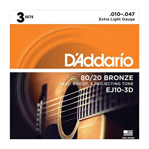 D'Addario Acoustic Guitar Strings (EJ10-3D)
