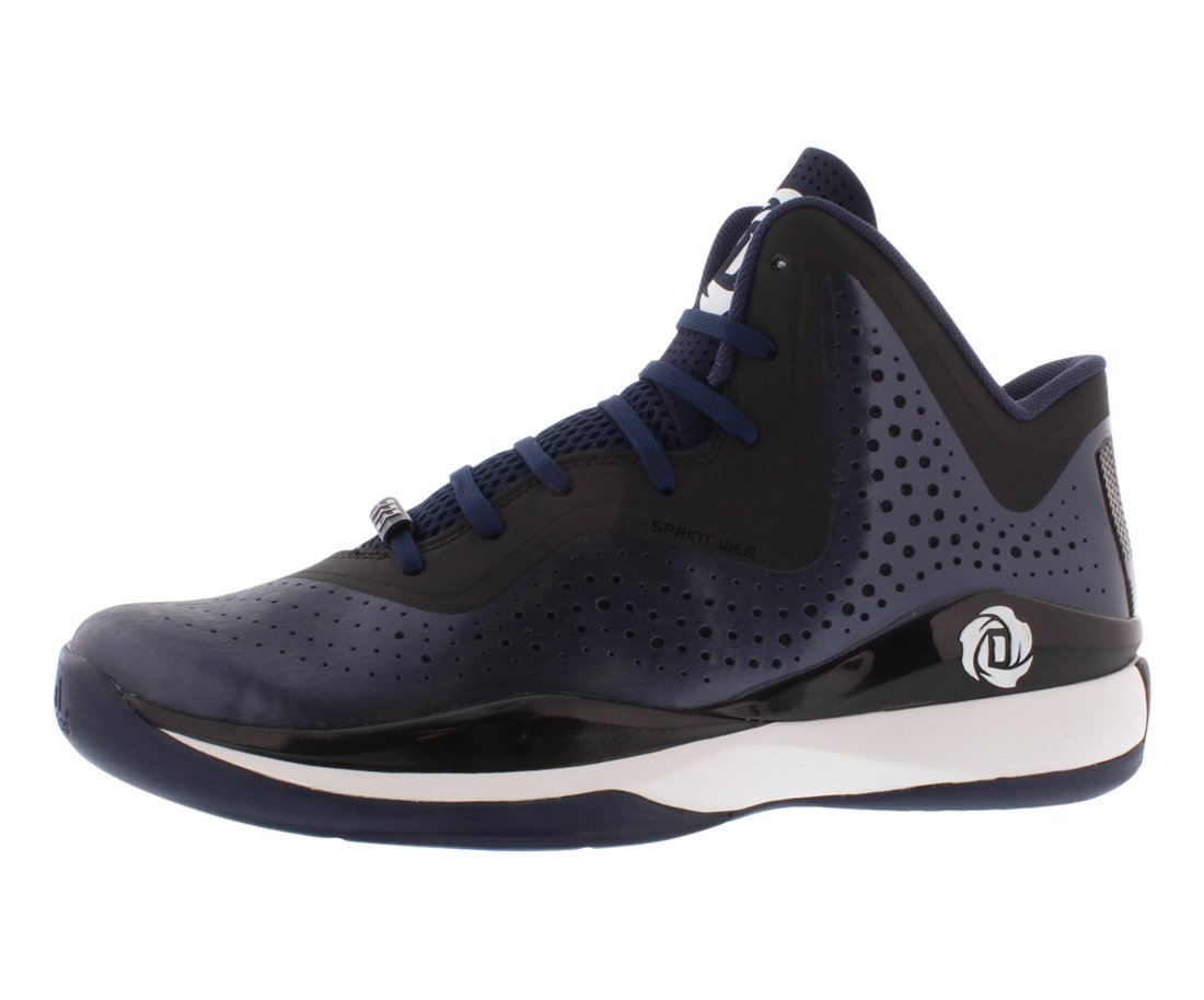 low priced cf23d eb396 Galleon - Adidas D Rose 773 III Mens Basketball Shoe 8.5 Navy-Black-White