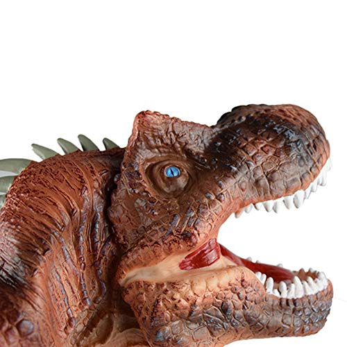 Gbell Cool Dinosaur Hand Puppets Toys for Kids- Large Soft Rubber Realistic Dino Toys Story Interactive Hand Glove for Infant Baby Toddler Boys Girls Adults Indoor Outdoor Toys -
