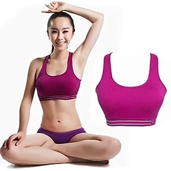 Bamgool Women Wireless Traceless Fitness Sports Back Vest Bra