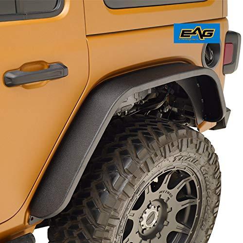 (EAG JL Rear Fender Flares Fit for 18-19 Jeep Wrangler JL - Steel)