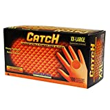 Adenna Catch 8 mil Nitrile Powder Free Gloves (Orange, XX-Large) Box of 100