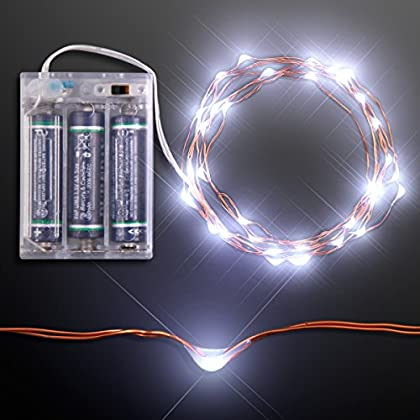 White LED Battery Operated Craft String Lights