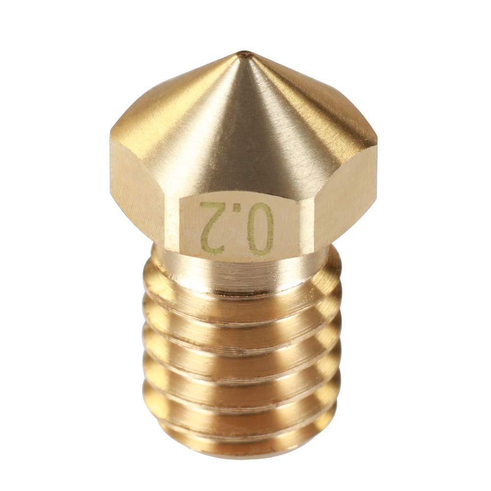 Impresora 3D Bronce V6 Extra Boquilla 3DMV6 4 un. 1,75 mm 0,