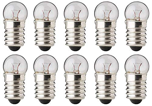 Book Light Replacement Bulb - CEC Industries #483S fits Mighty Bright Classic Bulbs, 4.8 V, 1.44 W, E10 Base, G-3.5 shape (Box of 10)