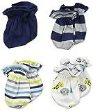 Gerber Baby 4 Pack Mitten, Safari, 0-3 Months