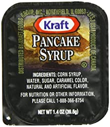 Kraft Maple Pancake Syrup, 1.4-Ounce Cups (Pack of 120)