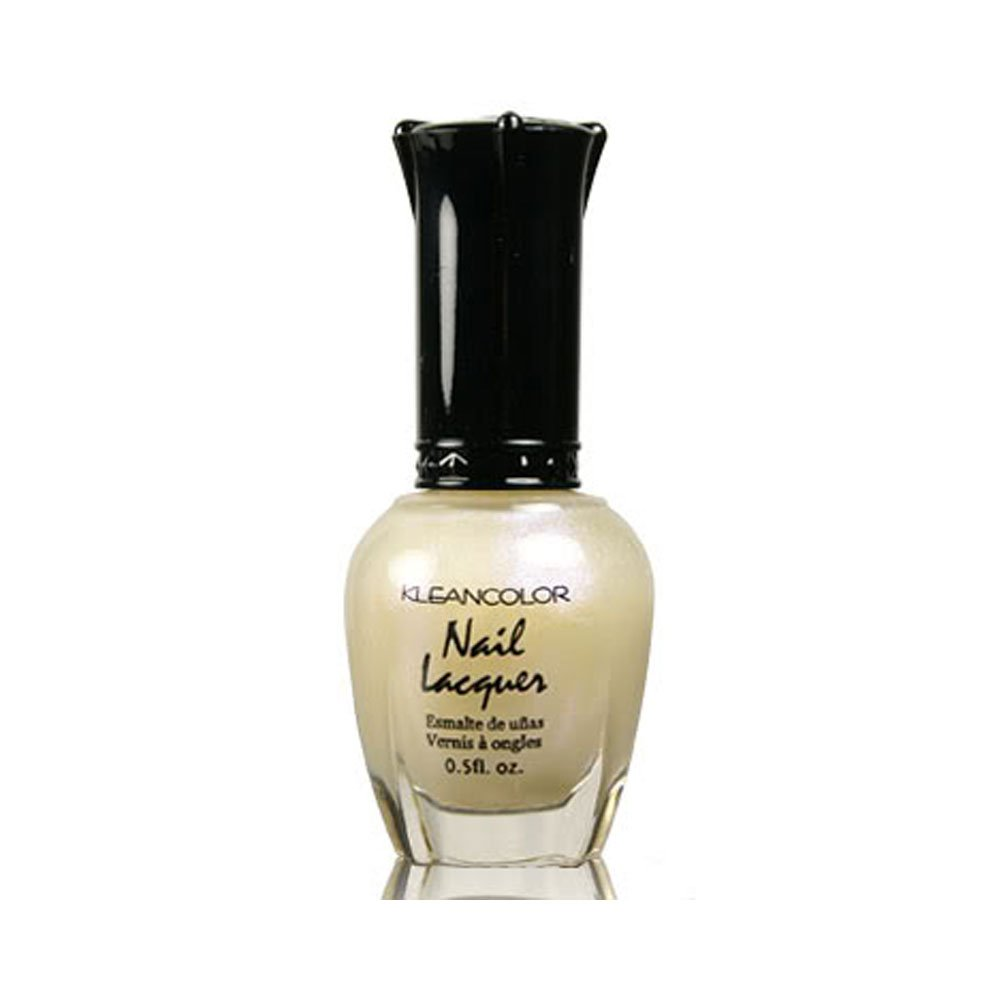 1 Kleancolor Nail Polish Lacquer #111 Cream Pearl Manicure + Free Earring Gift