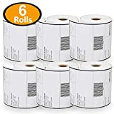 "[6 Rolls, 250/Roll] 4"" x 6"" Direct Thermal Zebra/Eltron Compatible Labels - Premium Resolution & Adhesive"