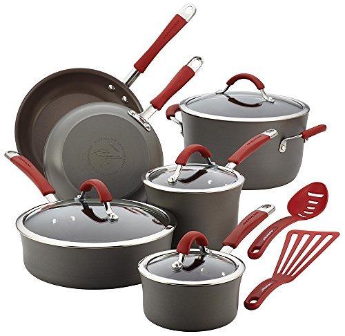 Rachael Ray Cucina Hard Anodized 12 Piece Cookware Set