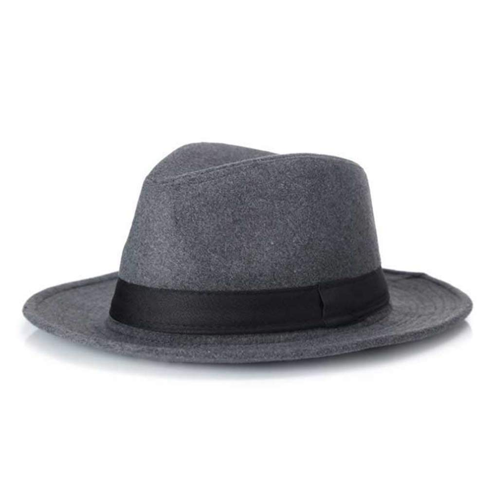 Fashion Unisex Fedora Wool Wide Brim Jazz Cap Vintage Panama Sun Top Hat
