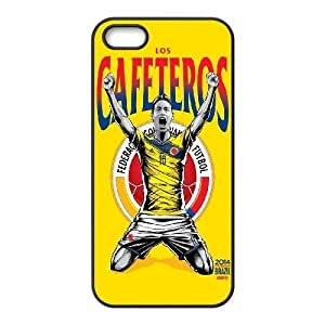 iPhone 5 5s Cell Phone Case Black WorldCup Columbia Djswb