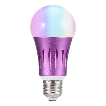 GAOLIQIN Bombilla de luz WiFi Inteligente, Bombilla led RGB de 12W Regulable Funciona con el