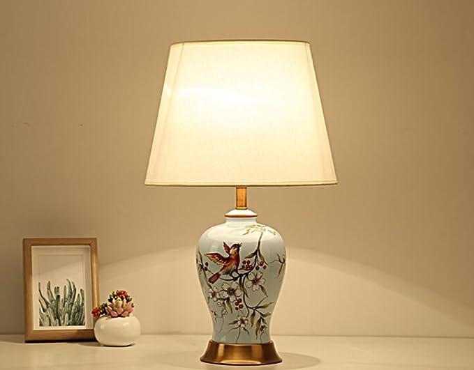Npz fiori dipinti a mano in stile cinese moderno e lampade da