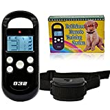 Skylarking Rechargeable and Rainproof 300 Meters Remote Dog Training Shock Collar with Beep, Vibration and Shock Electronic Electric Collar Safe for Pet, Small Large Dog (for 1 dog)
