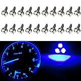 94 camaro center console - CCIYU T5 37 73 74 Wedge 3-SMD Speedometer Gauge Cluster LED Light Bulbs,20Pack Blue