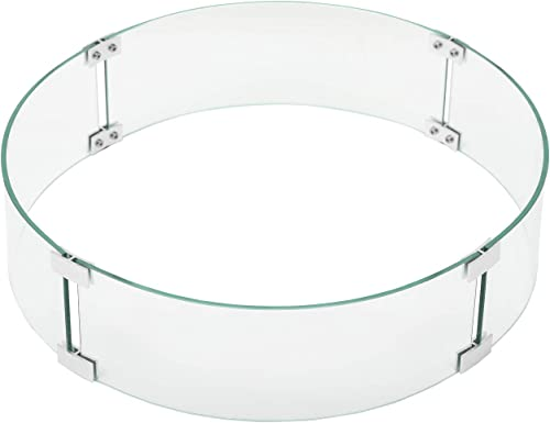 COSIEST Outdoor Fire Pit Glass Wind Guard