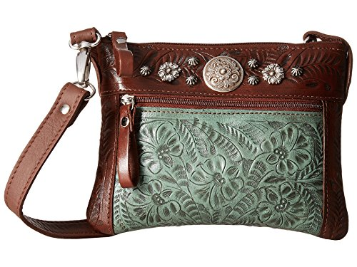 American West Women's Turquoise Trail Rider Crossbody Purse Turquoise One Size ()