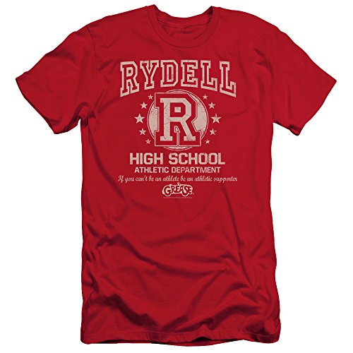 Grease Men's Rydell High Slim Fit T-shirt Large