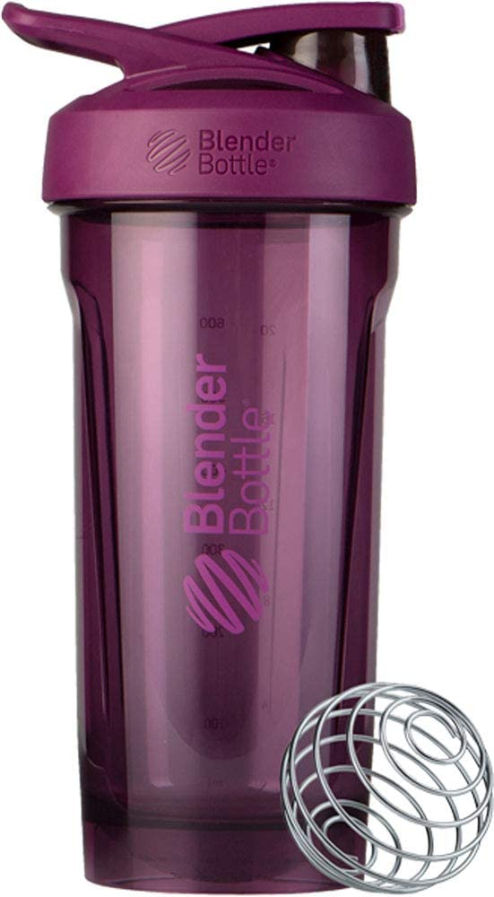 BlenderBottle Strada Shaker Cup Perfect for Protein Shakes and Pre Workout, 28-Ounce, Plum