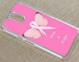 [TeleSkins] - Motorola Moto G4 Plastic Clear Case - Breast Cancer Pink Is Hope - Ultra Durable Slim Fit, Protective Plastic Designer Snap On Back Case / Cover