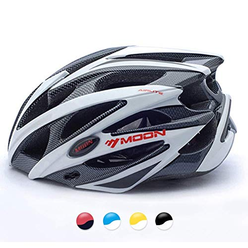 MOON Bike Helmet, Ultralight Bicycle Helmet for Men and Women, Lightweight Cycling Helmet for Road Mountain Biking Racing with Removable Visor