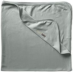 L\'ovedbaby Unisex-Baby Newborn Organic Swaddling Blanket, Seafoam, One Size