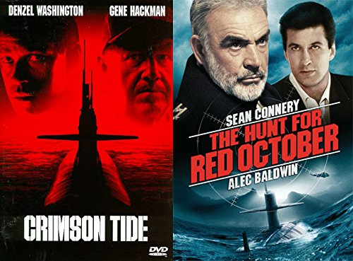 COLD WAR Military Thriller Films: Crimson Tide + The Hunt For Red October Russian Spy Submarine Collection Two Favorites pack - Glenn On Scott Fire Man