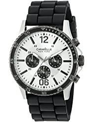 Caravelle New York Mens 45A126 Analog Display Quartz Black Watch
