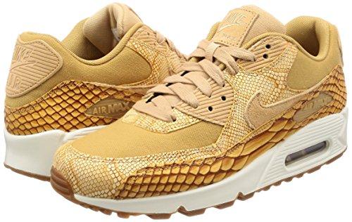 Nike Air Max 90 Premium Ltr - Scarpe da Ginnastica Basse Uomo, Arancione (Vacchetta Tan/vachetta Tan-elemental Gold 200), 45 EU Arancione (Vacchetta Tan/vachetta Tan-elemental Gold 200)