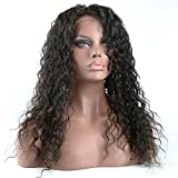 Curly Human Hair Lace Front Wigs 130% Density Brazilian Virgin Loose Deep Curly Wig with Baby Hair for Black Women 22Inch