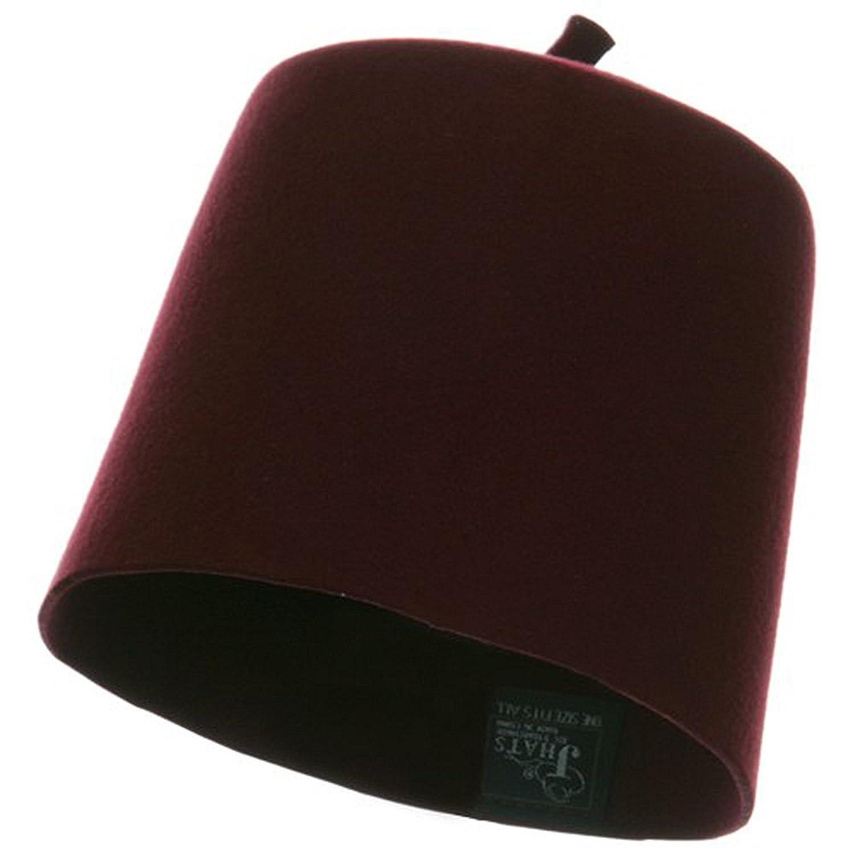 c0b8da2c7 Amazon.com: Kangaroo 100% Wool Red Fez Hat - Maroon/Burgundy Fez Hat ...