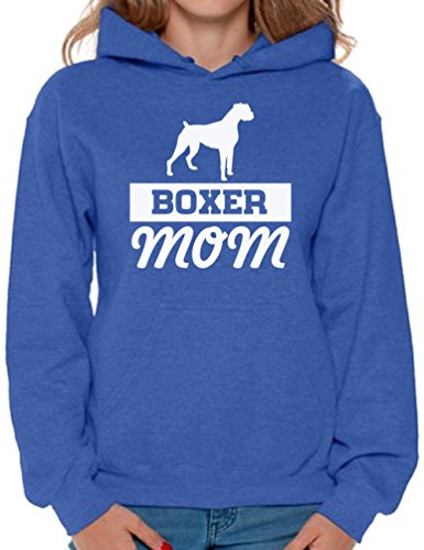 Awkward Styles Women's Boxer Mom Graphic Hoodie Tops Boxer Pug Lover Gift for sale