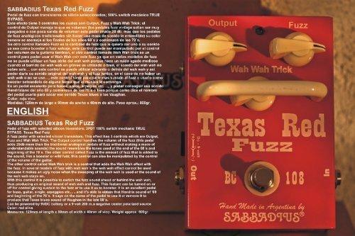 Sabbadius Custom Pedal Effects Texas Red Fuzz