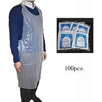 VLOU Útil 100 Unids/Set Delantales Desechables De Plástico