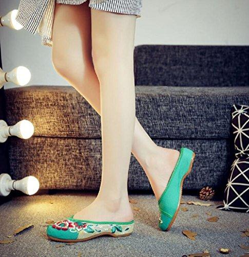 pour Lazutom Chaussons Chaussons Green pour Chaussons Lazutom Lazutom Femme Femme Femme Green Green pour Lazutom Zfwqtvw