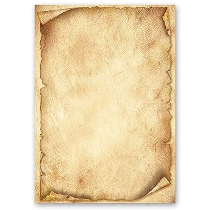 Papel de carta – Hojas estampadas ANTIGUO 100 hojas DIN A6