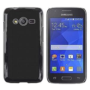 Be Good Phone Accessory // Dura Cáscara cubierta Protectora Caso Carcasa Funda de Protección para Samsung Galaxy Ace 4 G313 SM-G313F // Simple Gray