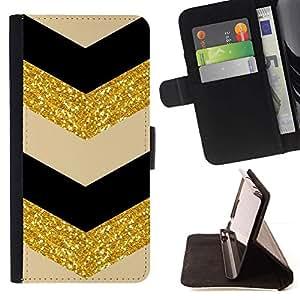 LG Magna / G4C / H525N H522Y H520N H502F H500F (G4 MINI,NOT FOR LG G4)Case , Patrón marroquí de Oro Negro Beige- la tarjeta de Crédito Slots PU Funda de cuero Monedero caso cubierta de piel