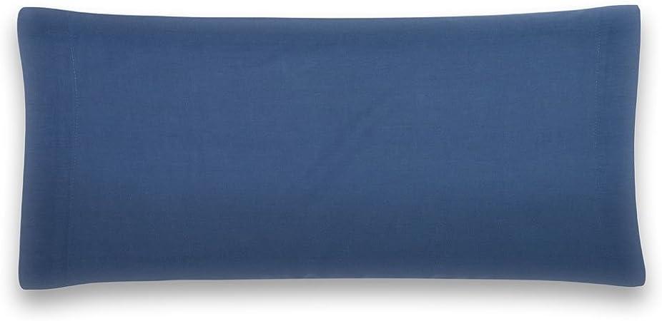 Sancarlos - Funda de almohada para cama, 100% Algodón percal, Color azul marino, Cama de 135 cm: Amazon.es: Hogar