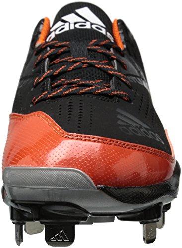adidas Performance Herren PowerAlley 4 Baseballschuh Schwarz / Weiß / Collegiate Orange