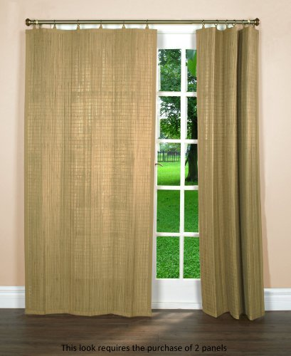 Bamboo Ring Top Curtain BRP05 Window Panel, 40 by 84-Inch, Driftwood (Panels Window Bamboo)
