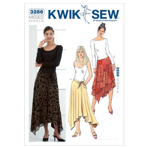 (Kwik Sew K3286 Skirts Sewing Pattern, Size XS-S-M-L-XL)
