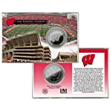 NCAA Wisconsin Badgers Camp Randall Stadium Silver Coin Card