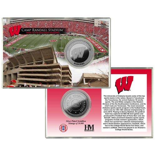 NCAA Wisconsin Badgers Camp Randall Stadium Silver Coin Card ()