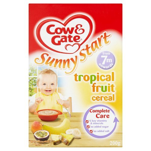 Cow & Gate Sunny Start Tropical Fruit Cereal, 7 Months, 200g Danone