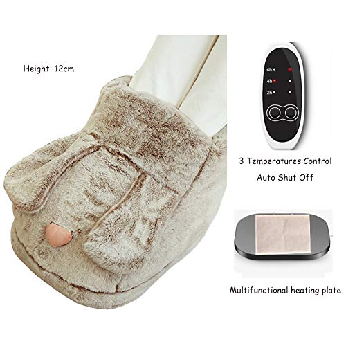Latest Shoulder Cold Therapy System Ljings Foot Warmer Electric,Ultra Soft Flannel Heat Therapy Wrap,Relieve Foot Pain and Fatigue,Increases Blood Flow Circulation,3 Temperatures Control,Auto Shut Off,Brown,Plush 2019