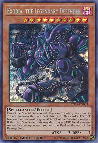 Exodia, the Legendary Defender - TN19-EN003 - Prismatic Secret Rare - Limited Edition